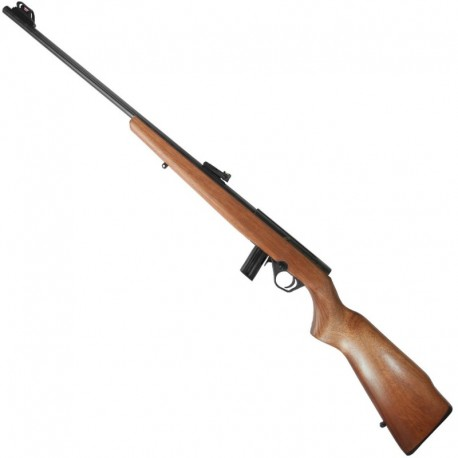 "RIFLE CBC .22 BOLT ACTION 8122 23"" OXIDADO - MADEIRA"