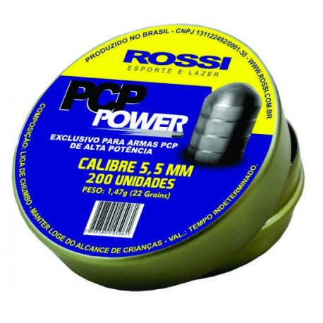 CHUMBINHO ROSSI PCP POWER 5,5MM - 75 unidades
